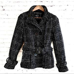 Rue 21 Black and White Plaid Jacket Size S